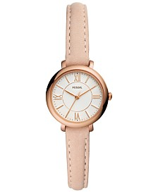 Fossil Women's Jacqueline Mini Blush Leather Strap Watch 26mm