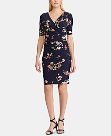 Lauren Ralph Lauren Floral-Print Ruched Dress