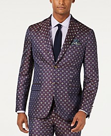 Men's Slim-Fit Medallion Jacquard Suit Jacket