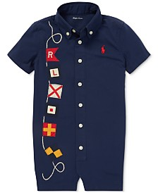 Polo Ralph Lauren Baby Boys Nautical Poplin Shortall