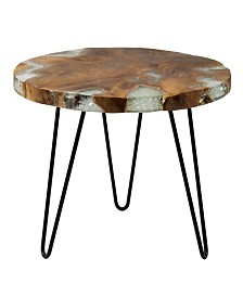 East At Main's Wellton Teak Accent Table