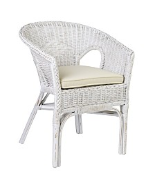 East At Main's Felton Rattan Accent Chair