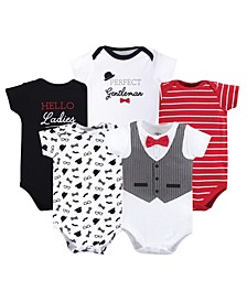 Cotton Bodysuits, 5 Pack