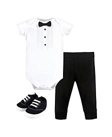 Bodysuit, Pant and Shoe Set, 0-18 months