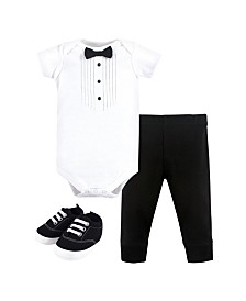 Little Treasure Bodysuit, Pant and Shoe Set, 0-18 months