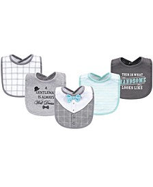 Cotton Drooler Bibs, 5 Pack