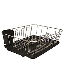 Chrome 3 Piece Set Dish Rack