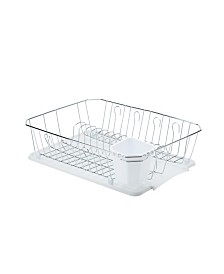 Kitchen Details Chrome 3 Piece Set Dish Rack