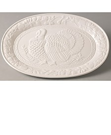Red Vanilla Wild Turkey Platter 17.75""