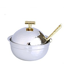 Two Tone Stainless Steel Honey Dish