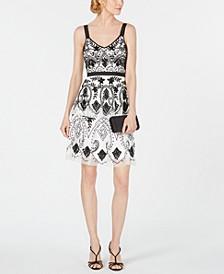 Hand-Beaded A-Line Dress