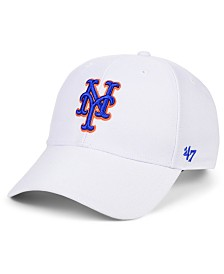 '47 Brand New York Mets White MVP Cap