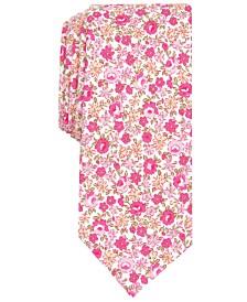 Bar III Men's Douglas Floral Skinny Tie, Created for Macy's