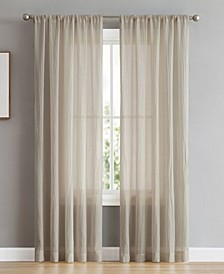 """Rosa 104"""" x 96"""" Backtab and Rod Pocket Faux Linen Window Curtain Pairs"""