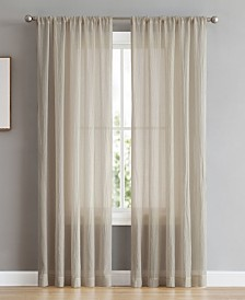 "French Connection Rosa 104"" x 96"" Backtab and Rod Pocket Faux Linen Window Curtain Pairs"