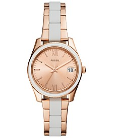 Women's Scarlette Mini White Silicone & Rose Gold-Tone Stainless Steel Bracelet Watch 32mm