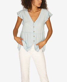 Sanctuary Marcella Flutter-Sleeve Top