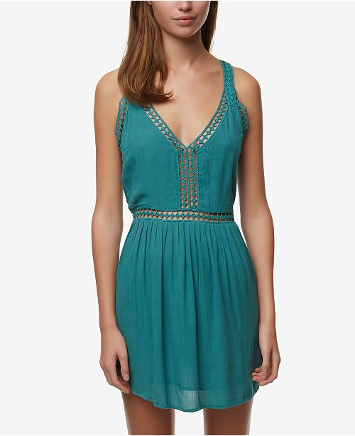 O'Neill Juniors' Mariah Crochet-Trim Tank Dress