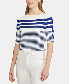 Lauren Ralph Lauren Lace-Up-Sleeve Sweater