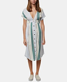 Juniors' Reid Striped Midi Dress