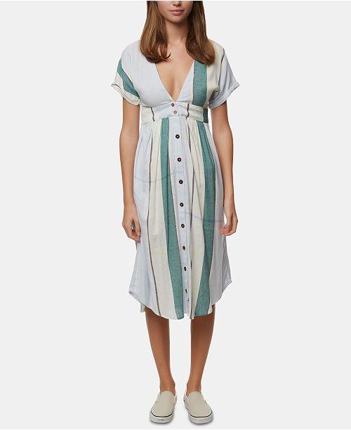 O'Neill Juniors' Reid Striped Midi Dress