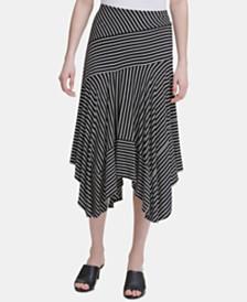 Calvin Klein Handkerchief-hem Knit Midi Skirt