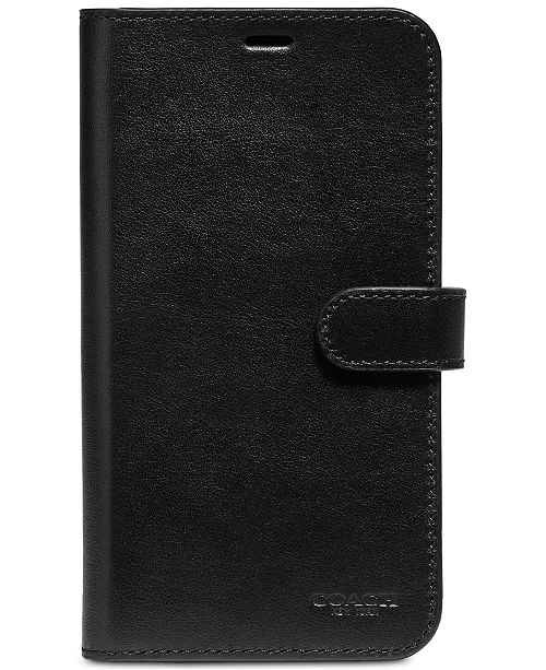 newest 64524 a38ff iPhone X Leather Folio