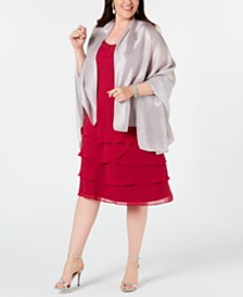 I.N.C. Pleated Lightweight Evening Wrap, Created for Macy's