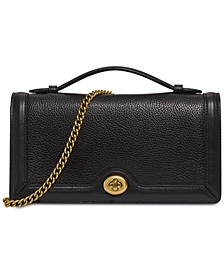 Riley Leather Chain Clutch