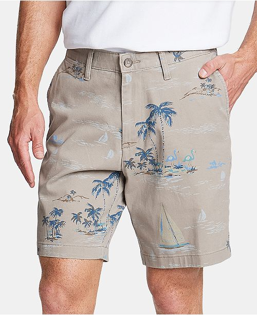 "Nautica Men's Big and Tall Classic-Fit Printed 8"" Deck Shorts"