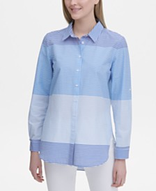 Calvin Klein Striped Colorblocked Shirt