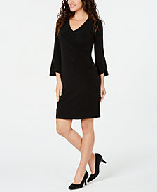 JM Collection Zipper Wrap Dress, Created for Macy's