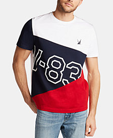 Nautica Men's Big and Tall Blue Sail Hydro Race Cotton Performance T-Shirt, Created for Macy's