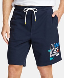 Nautica Men's Logo Graphic Shorts