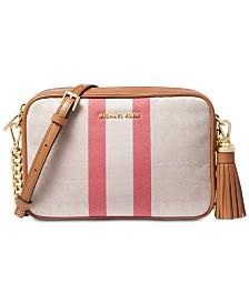 MICHAEL Michael Kors Signature Striped Medium Camera Bag