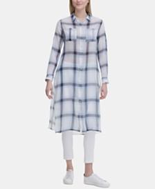 Calvin Klein Long Plaid Tunic