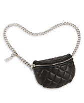 1f32f80928dd Steve Madden Quilted Faux Leather Chain Belt Bag