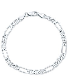 Figaro Chain Bracelet in 18k Gold-Plated Sterling Silver, Created for Macy's