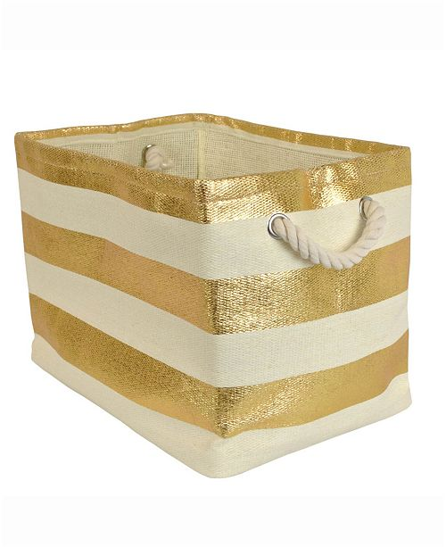 Design Import Paper Basket Stripe, Rectangle
