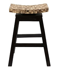 East At Main's Carnation Coconut Shell Inlay Counter Stool