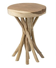 East At Main's Kenton Teak Accent Table
