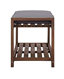 """48"""" Patio Wood Bench With Cushion"""