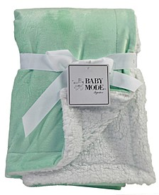 3 Stories Trading Mink Sherpa Baby Blanket