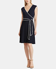 Lauren Ralph Lauren Two-Tone Fit & Flare Dress