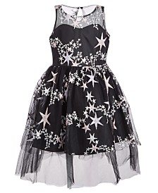 Bonnie Jean Little Girls Embroidered Stars Dress