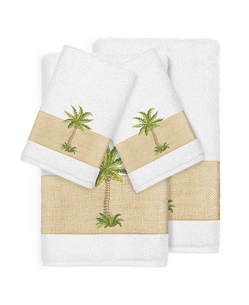 Linum Home Turkish Cotton Colton 4-Pc. Embellished Towel Set