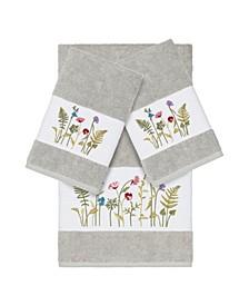 Turkish Cotton Serenity 3-Pc. Embellished Towel Set