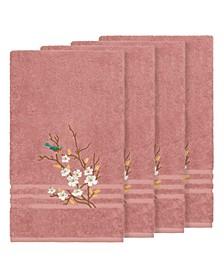 Turkish Cotton Springtime 4-Pc. Embellished Bath Towel Set