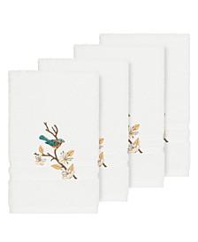 Turkish Cotton Springtime 4-Pc. Embellished Hand Towel Set