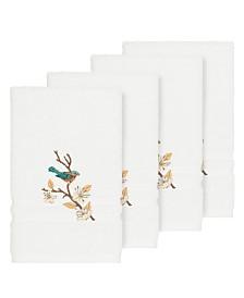 Linum Home Turkish Cotton Springtime 4-Pc. Embellished Hand Towel Set